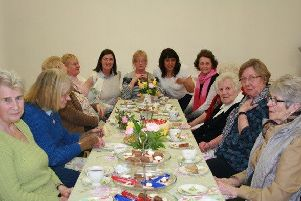 Islandmagee ladies at the Connected Communities tea  in the Gobbins Community Centre, Islandmagee. (picture kindly submitted)