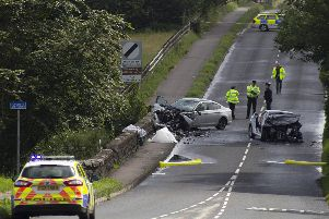 The scene of the fatal crash at Articlave on Friday