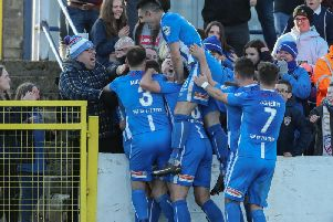 Coleraine celebrate their late winner