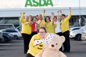 Asda Coleraine Community Champion, Shannon Linton, is set to fundraise for BBC Children in Need this November. Pictured with Asda Community Champions from across NI