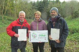 Brian Poots (NI Forest School Association) , Mrs Lyttle and Mr Wilkinson
