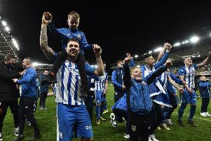 James McLaughlin enjoying the Coleraine celebrations. Pic by Pacemaker.