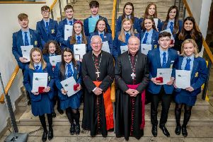 John Paul II Award pupils from Loreto College
