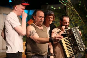 From left: Rory Kingston-Lynch as Lee, Gary Andrews as Rooster, Tom Last as Ginger and Olly Reeves as Davey. Picture by Kevin Day