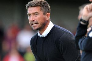 Crawley Town head coach Harry Kewell. Picture by Steve Robards