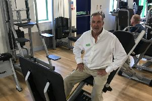 Owner Chris Lane at his recently opened Rustington gym