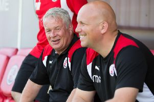 Dermot Drummy and Matt Gray after they were appointed at Crawley Town