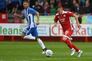 Dean Cox in action for Crawley Town