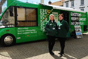 Macmillan Cancer Support's mobile service will be visiting Crawley. SUS-180304-112726001