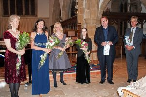 From left: Nancy Cooley, Jane Haughton, Kate Hagan, Martha Clayton, Ben Halsey and Simon Edge-Partington