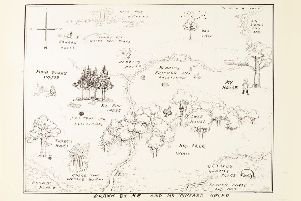 Charming ... the map was drawn by E. H. Shepard in 1926