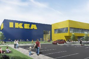 An artist's impression of how a new IKEA in Lancing could look