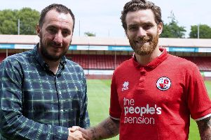 New signing Romain Vincelot with director of football Selim Gaygusuz