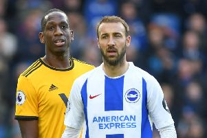 Pictures taken during the Premier League Game Brighton & Hove Albion Vs Wolves Sat 27th October 2018 SUS-181027-182112008