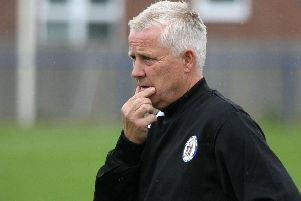 Haywards Heath Town boss Shaun Saunders is treating Tuesday night's Sussex Senior Cup trip to League Two Crawley Town like a 'cup final' but was disappointed to draw such an illustrious opposition so early on in the tournament. Picture by Derek Martin.