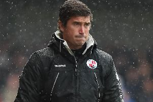 Harry Kewell during his Crawley Town days