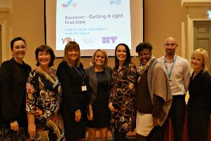 Some of the West Sussex Connect project team at the launch of the pilot in Chichester