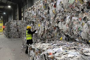 Ford recycling centre where material from around West Sussex is processed