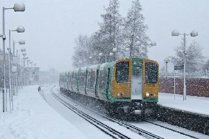 A Southern train in the snow (photo from Network Rail)