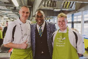 Care home chefs meet TV's Ainsley Harriott