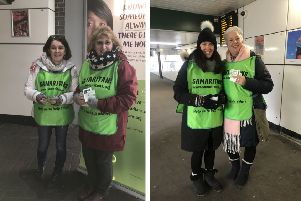 'Brew Monday' - Samaritans volunteers at Three Bridges station