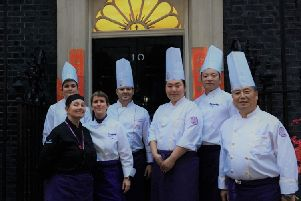 Crawley College students cook for the PM at 10 Downing Street