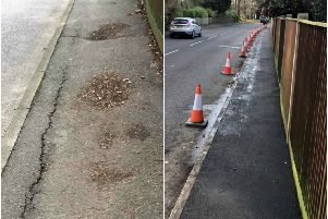 One of the first projects to benefit from the extra funding ' a footpath resurfacing in Aldwick Road, Aldwick