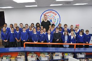 England rugby star Joe Launchbury's Broadfield visit inspires pupils