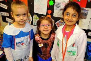 Our Lady Queen of Heaven primary school, Crawley. Year 1 Superhero Day. SR1903387. Pic Steve Robards SUS-190902-110234001