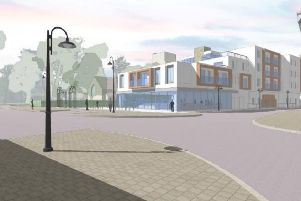 New flats planned where the  St John the Baptist Church Hall and NCP car park is currently in Crawley town centre