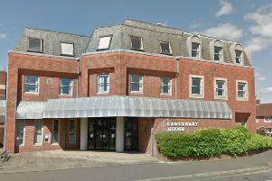 The inquest was held at Centenary House in Crawley. Photo: Google Street View