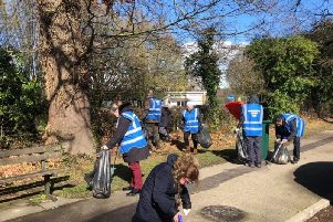 Crawley's Conservative Action Team held a litter picking session in Southgate and Southgate West