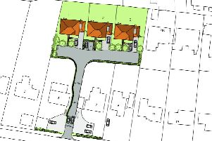 Layout of the three new homes
