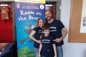 Maria Cook with her son Ryan and Jason Gardiner