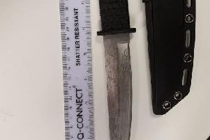 A photo of the knife. Picture: Horsham Police/Twitter