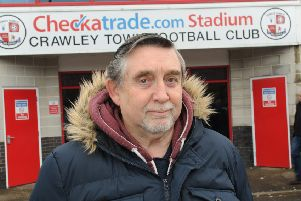 Crawley Town fan and columnist Geoff Thornton SUS-150216-151358002
