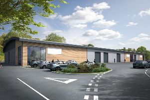 A CGI image of the new warehouse  at Tungsten Park, Handcross