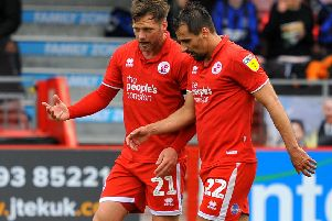 Crawley Town FC v Forest Green. Pic Steve Robards SR1909391 SUS-190604-154249001