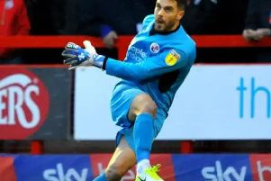 Crawley Town goalkeeper Glenn Morris. Picture by Steve Robards