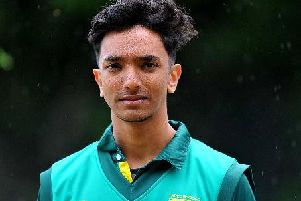 Three Bridges bowler Archit Patel'Picture by Steve Robards