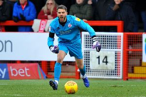 Crawley Town goalkeeper Glenn Morris in action. Picture by Steve Robards (SR1903574)