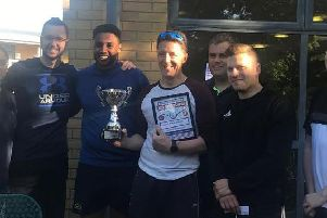 Players celebrate at the tournament