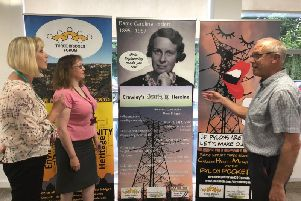 UK Power Networks employees Mel Oakley and Jill Brooks ask their questions about Dame Caroline to John Cooban from Three Bridges Forum