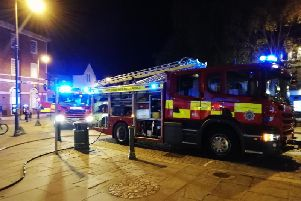 Fire crews in Horsham town centre