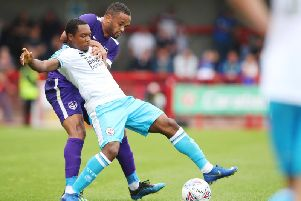 Ashley Nathaniel-George was back in the starting line-up for Crawley Town. Picture by Joe Peplar