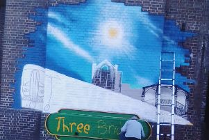 The mural which started on August 19, is nearly complete