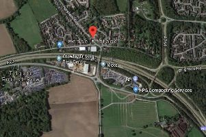 Work is being carried out to reduce traffic delays at the Pease Pottage junction of the M23. Picture: Google Maps.