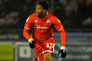 Crawley Town's Ricardo German. Picture by Steve Robards
