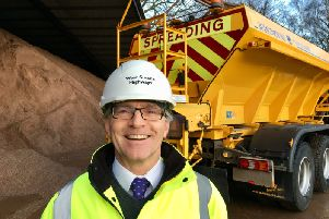 Richard Speller, winter service manager for West Sussex Highways, at the Clapham depot talking about gritters and gritting the roads