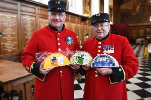 Chelsea Pensioners David Godwin and Oswell Telford